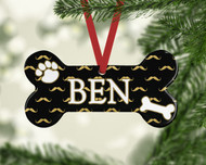 Pet Many Mustaches Ornament