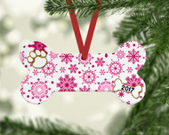 Pet Pink Flurries Ornament