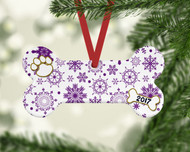 Pet Purple Flurries Ornament