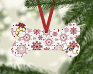 Pet Red Flurries Ornament