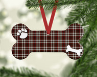 Pet Square Plaid Ornament