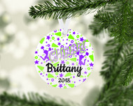 Cheer Dazzle Purple/Green Ornament