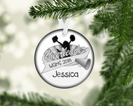 Cheer Banner Black Ornament