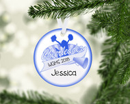 Cheer Banner Blue Ornament