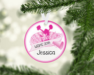 Cheer Banner Pink Ornament