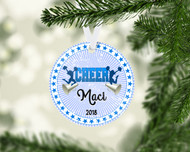 CHEER Blue Ornament