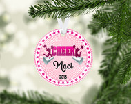 CHEER Pink Ornament