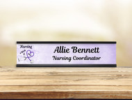 Nursing Work Purple Desk Plate w/ Insert