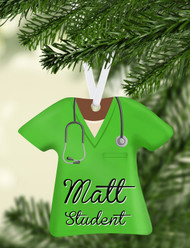 Scrub Top Green Ornament