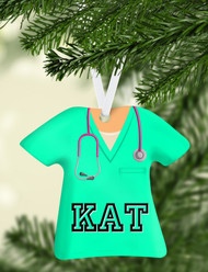 Scrub Top Mint Ornament