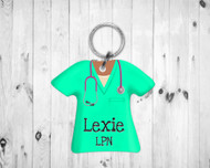 Scrub Top Keychain Mint