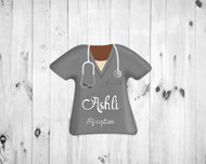 Scrub Top Magnet Gray