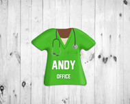 Scrub Top Magnet Green