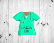 Scrub Top Magnet Mint