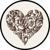 Sketched Rose Heart BR