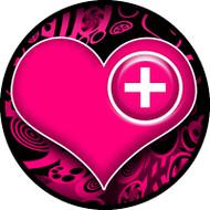 Med Heart Pink BR
