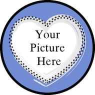 Fur Heart Blue Frame BR