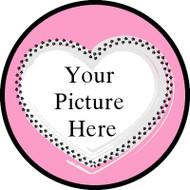 Fur Heart Pink Frame BR