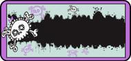 Emo Skull Purple
