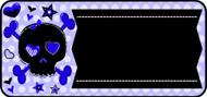 Spunky Skull Blue