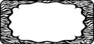 Zebra Label Black