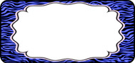 Zebra Label Blue