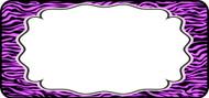 Zebra Label Purple