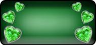 Reflected Heart Green