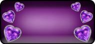 Reflected Heart Purple