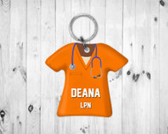 Scrub Top Keychain Orange