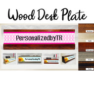 Decorative Pink Wood Desk Plate Set