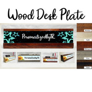 Glowing Wood Desk Plate Set