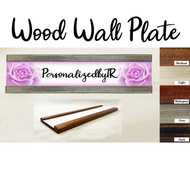 Rose Bloom Wood Wall Plate Set