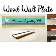 Patchwork Easter Wood Wall Plate Set