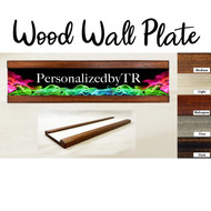 Smoke in Color Wood Wall Plate Set