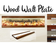 Blooms Wood Wall Plate Set