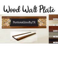 Leopard Border Wood Wall Plate Set