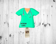 Scrub Top Mint Badge Reel