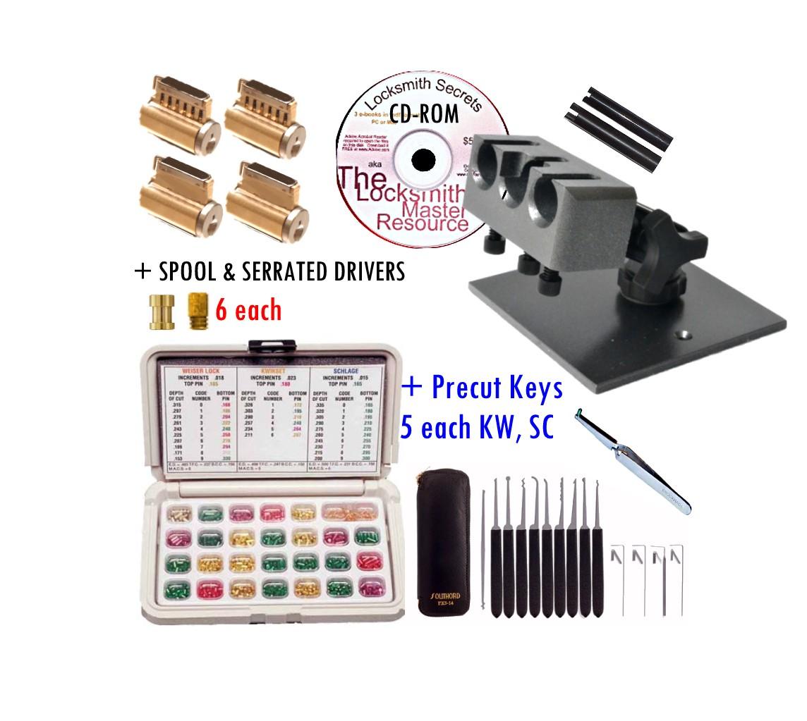 BTA - Beginner Thru Advanced - Lock Picking Practice Kit
