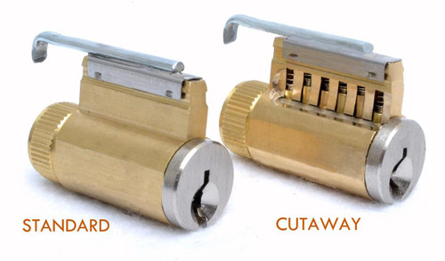 EZ ReKey Practice Locks are available in a cutaway version as well as standard.