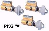 3 Standard Practice Locks PCYPKG-A
