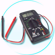 Multimeter with self storing leads