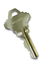 Key with MASTER stamped on bow