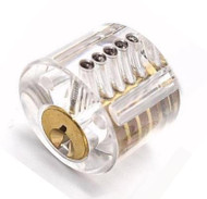 See-Thru Acrylic Mortise Cylinder - for lock picking practice or as an educational visual aid