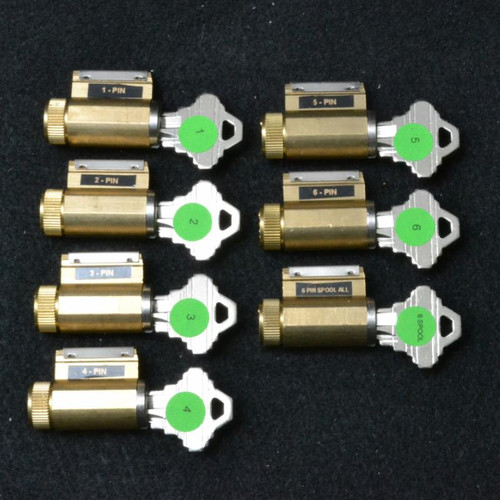 Progressive Set of 7 Practice Locks, SC Keyway