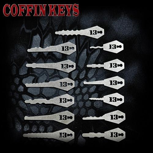 Sparrows Coffin Keys - Set of 13 rocker style keys