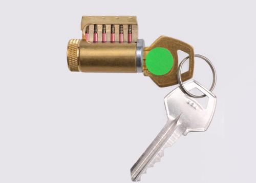 6-Pinned High Quality Cutaway Practice Lock with Corbin 60 Keyway -- RARE!