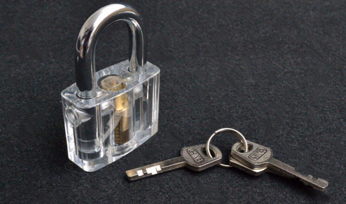 Clear Acrylic Padlock with Wafer Tumblers