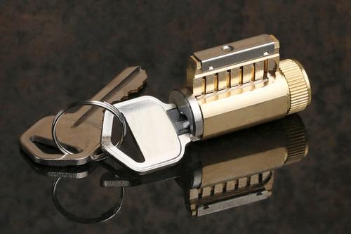 Cutaway Practice Lock, KIK (key-in-knob) Style