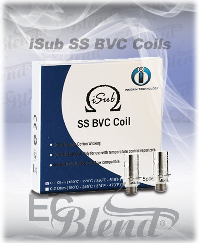 Clearomizer Replacement Head - Innokin - iSub Stainless Steel BVC Coils at ECBlend Flavors